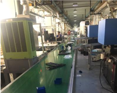 注塑机集中 生产流水线